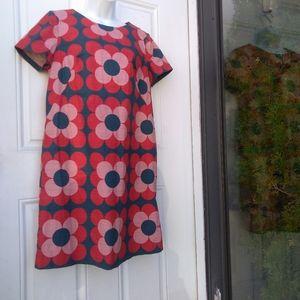 Boden Retro Floral Shift Dress